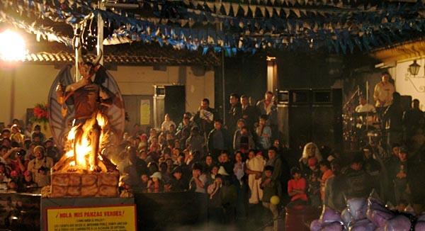 Burning Devil at the Guatemalan festival