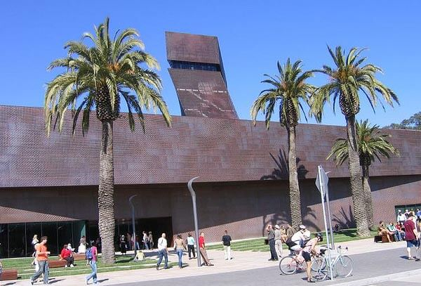 Outside the de Young Museum in Golden Gate Park