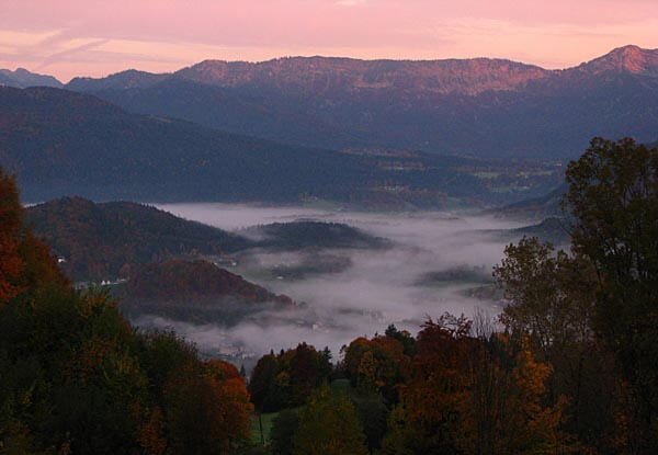 The Berchtesgaden National Park at dawn