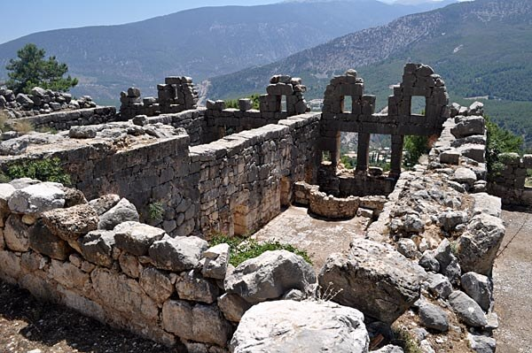 The ruins of Arycanda in Turkey