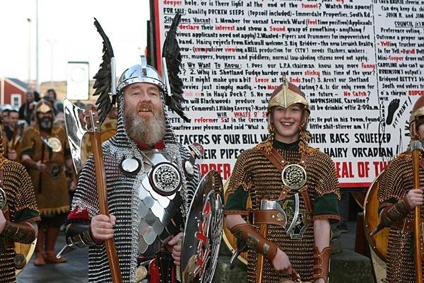 Vikings at Up Helly Aa!