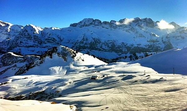 A Swiss downhill ski area