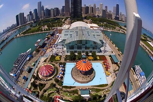 Navy Pier seen from the Ferris Wheel, Chicago