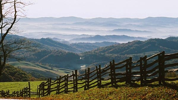 The beautiful Grayson Highlands State Park in Virginia