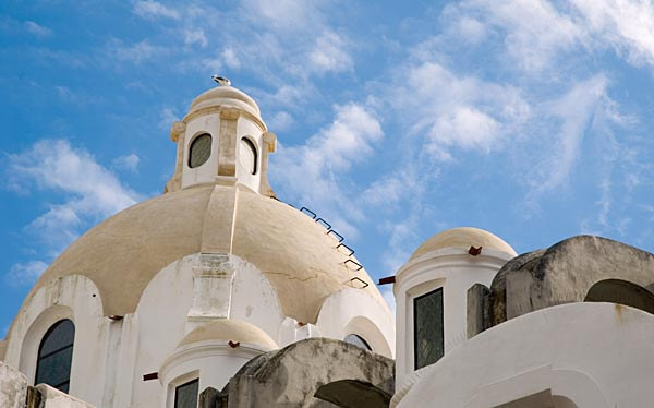 Church of Costanzo roofline, Capri, Italy