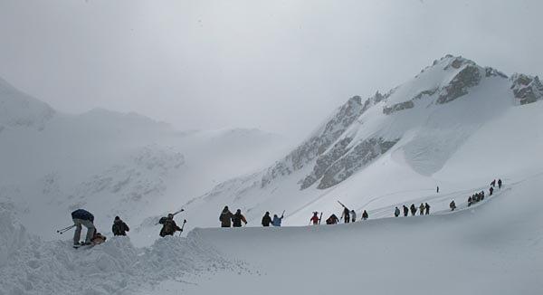 Tour onto Blackcomb Glacier