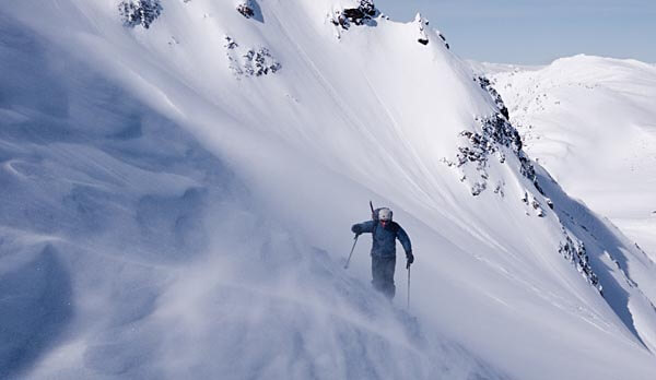 Skiing off-piste in Whistler, Canada