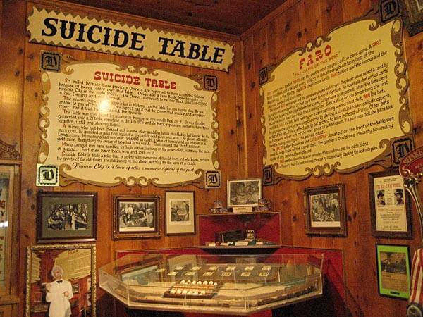 The Suicide Table Virginia City Nevada Eyeflare Com