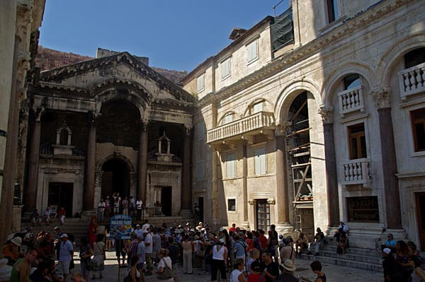 The Dicletian palace in Split, Croatia