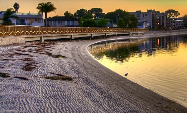 Beach in Mission Bay Park, San Diego