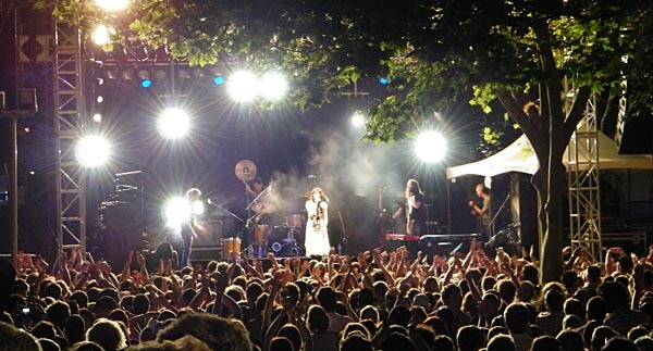 Crowd at the Laneway Festival