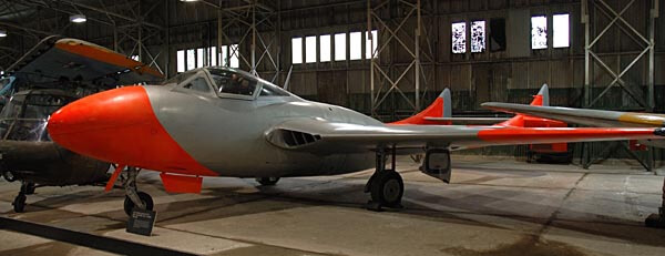 A de Havilland Sea Vampire at the National Museum of Flight
