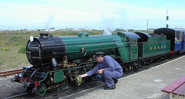 The Romney Hythe and Dymchurch small gauge railway