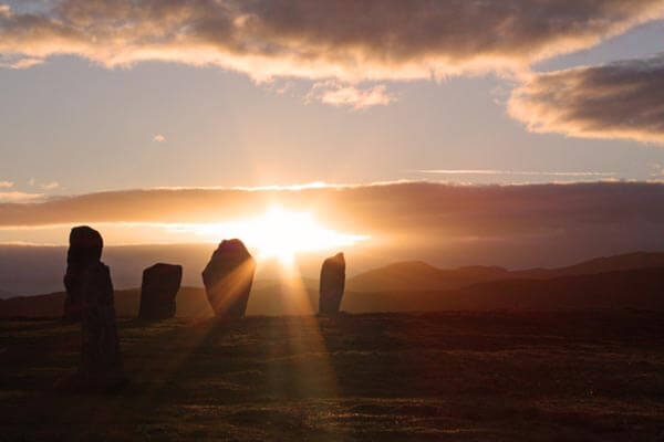 The Callanish Stones at sunset