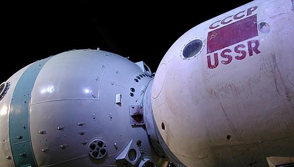 A Russian space capsule