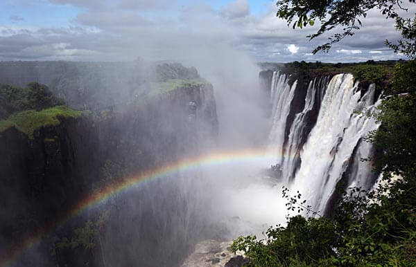 The Victoria Falls in Zambia and Zimbabwe