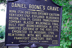 Sign at Daniel Boone's Grave