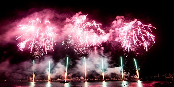 Fireworks at the Cannes festival