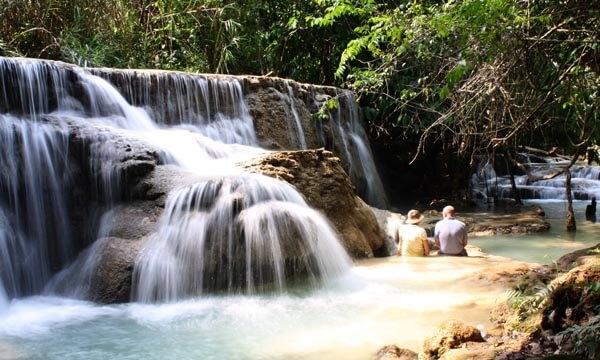 The Kuang Si Waterfall near Luang Prabang