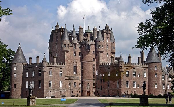 The front of Glamis Castle, Angus
