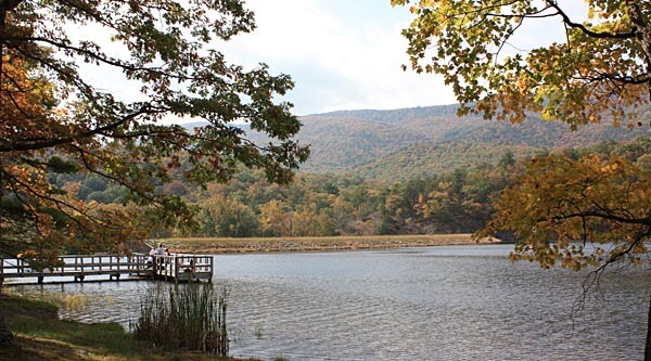 Lake at the Douthat State Park