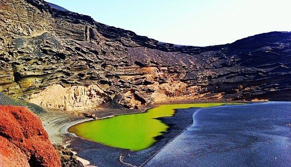 Lanzarote's famous Green Lagoon