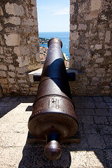 Cannon at the Fortress in Hvar