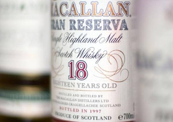 Scotch whisky bottle