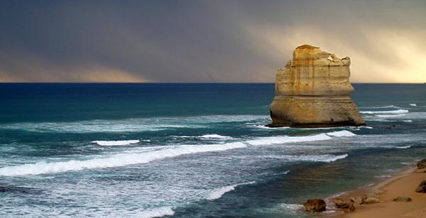 One of the Apostles rock formations along the Great Ocean Road
