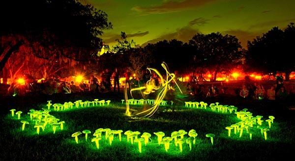 Light installation at the Orlando Fringe Festival