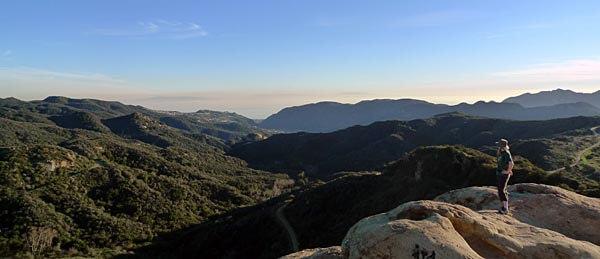 Eagle Rock at Topanga State Park, CA