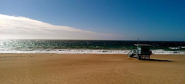 Beach in Santa Monica Bay