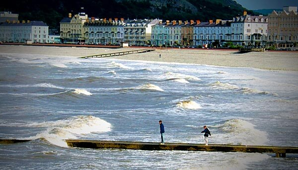 Beach in Llandudno, Wales