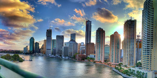 Brisbane at sunset