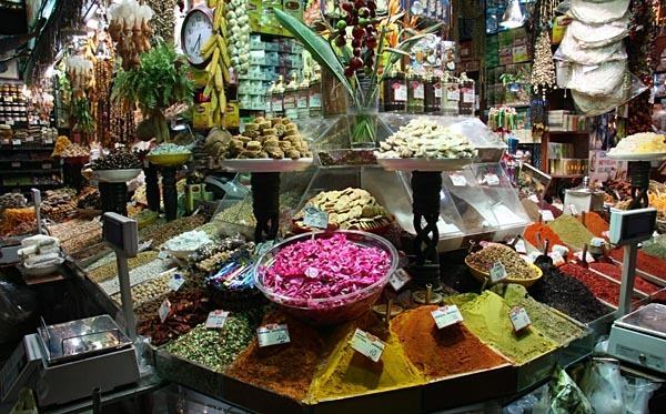 Spice stall in the Egyptian Bazaar, Istanbul