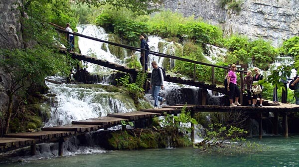 Walkways in the Plitvice Lakes National Park