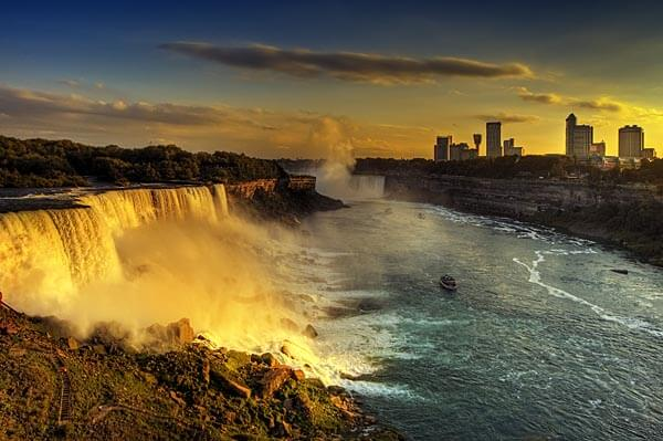 Niagara Falls at sunset