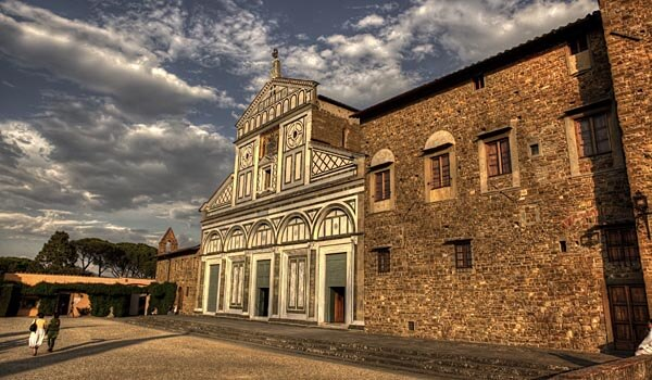 The church of San Miniato al Monte in Florence