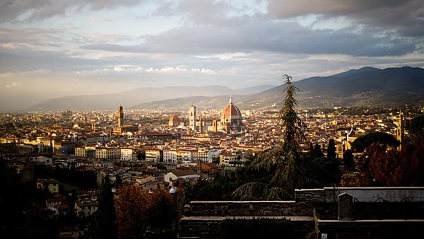 The view of Florence from San Miniato al Monte