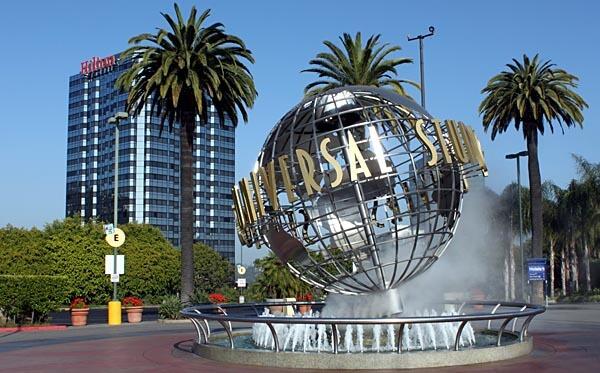 The Universal Studios sign