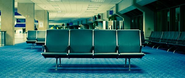 Empty airport seats