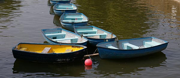 Boats on the Royal Military Canal in Kent