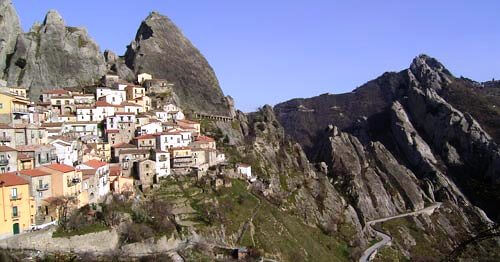 Picturesque Castelmezzano in Italy