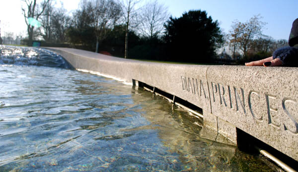 The Diana Memorial Fountain in Hyde Park