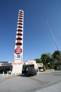The World's Largest Thermometer in Baker, CA