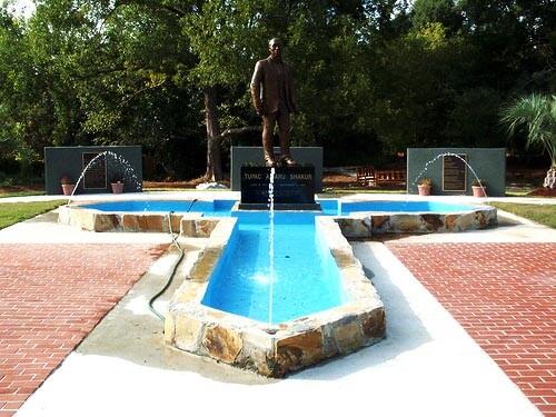 The Tupac Shakur Statue in Stone Mountain, Georgia