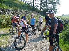Mountain bikers in the Lake District