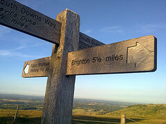 Way sign on the South Downs Way