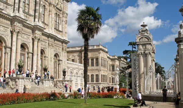 The grounds at Dolmabahce Palace