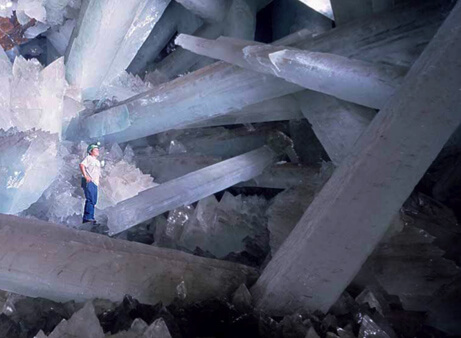 The crystal formations in Naica Mine